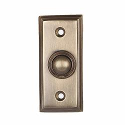 "Wired Brass Doorbell Chime Push Button In Antique Brass Finish Vintage Decorative Door Bell With Easy Installation 2 9 16"" X 1 3 16"