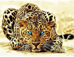 Blxecky 5D Diy Diamond Painting By Number Kits Leopard 12X16INCH 30X40CM