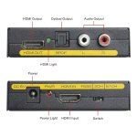 HDMi To And Optical Toslink Spdif + Analog Rca L R Stereo Audio Extractor  Converter Audio Splitter Adapter Input