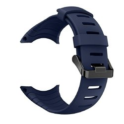 Vovomay Band For Suunto Core Watch Silicone Replacement Band Smart Watch Fitness Strap For Suunto Core Blue