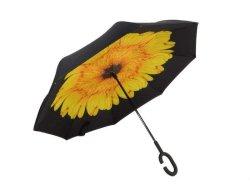 Reversible Umbrella With Design - Yellow Daisy