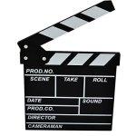 Yamix Clapboard Wooden Clapboard Director Film Movie Cut Action Scene Slateboard Clapper Board Slate - Black S