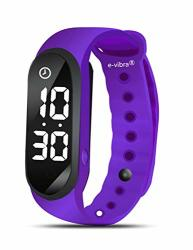 E-vibra 8 Alarm Vibrating Reminder Watch - Water Resistant Medication Vibration Reminder Watches For Kids Toilet Potty Training Aid Adhd Vibrate Reminder Purple