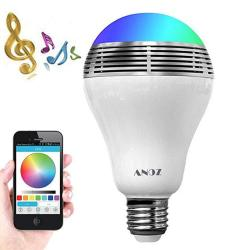 Smart LED Light Bulb Bluetooth Speaker Valentines Day Gift Zonv 3W E27 E26 Rgb Changing Lamp Wireless Stereo Audio Phone Control