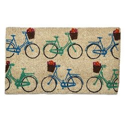 Tag - Bicycles Coir Mat Decorative All-season Mat For The Front Porch Patio Or Entryway Multi