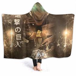 "Jklgdfza Attack On Titan Baby Blankethooded Blanket Cartoons 60""X50"