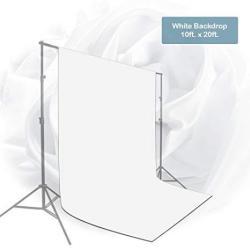Julius Studio 10 X 20 Ft. White Chromakey Photo Video Studio Fabric Backdrop Background Screen Pure White Muslin Photography Studio JSAG210