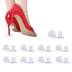 55bb34b18 9 Pairs Clear High Heel Protectors Heel Stoppers For Wedding Mates  Bridesmaid Small middle large