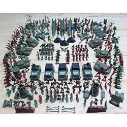 Gazelle Trading 307 Pieces Plastic Civil War Army Men Toy Soldier Set Action Figure Tank Playset Model Handbag Kit