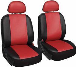Fits Select Vehicles Car Truck Van SUV Motorup America Leather Auto Seat Cover Full Set Tan