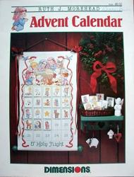 Advent Calendar Cross Stitch Designed By Ruth J. Morehead For Dimensions