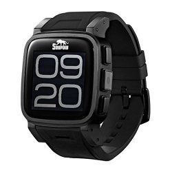 SnoPow W1 Waterproof GSM Smartwatch For Android - Black