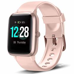 LETSCOM Smart Watch Fitness Tracker Heart Rate Monitor Step Calorie Counter Sleep Monitor Music Control IP68 Water Resistant 1.3 Color Touch Screen Activity Tracking