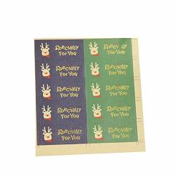 Zentto Christmas Holiday Label Christmas Gift Stamp Decoration Label Paper Packaging Label Gift Label Label 10 Sheets For