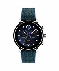 Movado Connect 2.0 Unisex Powered With Wear Os By Google Stainless Steel And Navy Velcro Fabric Smartwatch Color: Navy Model: 3660030