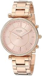 Fossil Women's Hybrid Smartwatch Watch With Stainless-steel Strap Rose Gold 16.1 Model: FTW5040