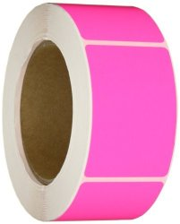 """Aviditi DL630K Rectangle Inventory Color Coded Label 3"""" Length X 2"""" Width Fluorescent Pink Roll Of 500"""