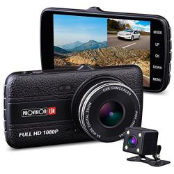 HD 1080P Front and 720P Rear Car Camera with Night Vision 170 Degrees Wide-Angle G-Sensor WDR WeJupit Dual Dash Cam Front and Rear Lens with WiFi Loop Motion Detection