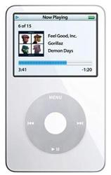 Apple Classic Video 30GB White 5TH Generation - Discontinued By Manufacturer Comes With Generic Ear Pods Wall Pug And Charging Wire Packaged In