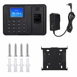 """Zopsc 2.4"""" Color Screen Tft Fingerprint Attendance Recorder With Biometric Recognition Employee Time Clock Support U Disk Download Attendance Data Us Plug"""