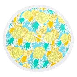 No Brand Round Poncho Beach Towel Pineapple