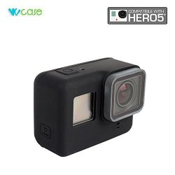 WoCase Gopro HERO5 Camera Silicone Protective Case Frame Housing Black For Gopro HERO5 Lens Protection Anti-scratch