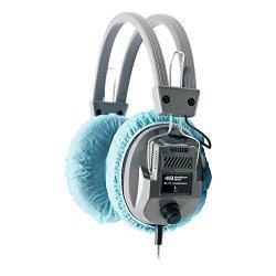 "HamiltonBuhl Disposable Ear Cushion Covers Blue 4.5"" Deluxe 50 Pair"