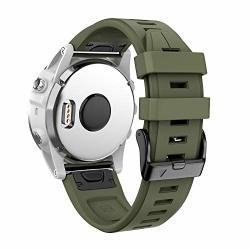 Ancool Compatible With Fenix 5S Plus Bands 20MM Width Easy Fit Soft Silicone Watch Bands Replacement For Fenix 6S FENIX 6S Pro fenix 5S Smartwatches Olive