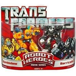 Transformers: Robot Heroes Bumblebee And Barricade Action Figure Multipack