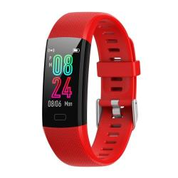 Y10 0.96 Inch Tft Color Screen IP67 Waterproof Smart Bracelet Support Call Reminder Heart Rate Monitoring blood Pressure Monitoring Sleep Monitoring blood Oxygen Monitoring Red