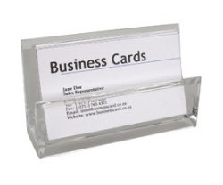 Acrylic Desk Top Business Card Holder R3263 Collectibles