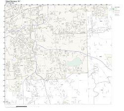 Zip Code Wall Map Of West Seneca Ny Zip Code Map Laminated
