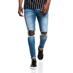 Rj Super Skinny Med Wash Rip Knee Jean