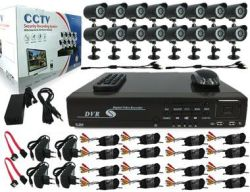 Complete 16CH Diy Dvr With 1TB Hard Drive + 16 Cameras + Cable & Accessories
