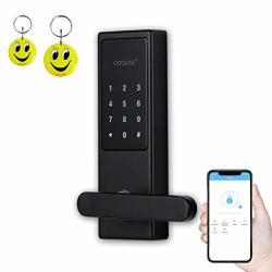 Coolous F10 Smart Lock Bluetooth Keyless Touchscreen Digital Door Lock Smart Deadbolt Fully Automatic Smart App Rfid Card