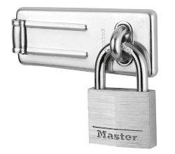 Master Lock 9140703EURD 89MM Hasp And 40MM Aluminium Padlock Set