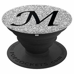 Silver Glamour Monogram Letter M Initial