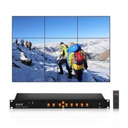 Rijer 3X3 Video Wall Controller HDMI HD Tv 1080P Matrix Processor Splicer  Splitter Support USB HDMI Vga Av Input 3X2 2X2 3X1 1X3-9 2X3   R  