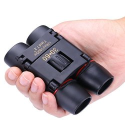 DIMY Binoculars For Girls Boys Compact 8X21 MINI Small Telescopes Pocket Black DL07