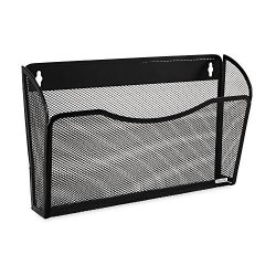 Sanford Rolodex Mesh Collection Single-pocket Wall File Black 21931