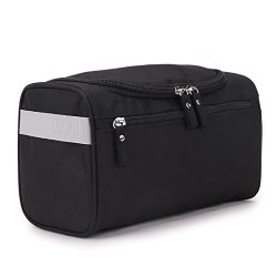 TFCFL Travel Toiletry Bag Bathroom Shower Wash Shaving Grooming Kits Bag Travel Cosmetic Bag Organizer Case Make Up Wash Toiletry Bag Black