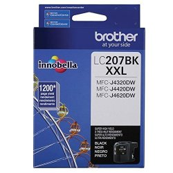BROther INTL. CORP. BrOther LC207BK LC207BK Innobella Super High-yield Ink Black