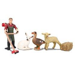 Farm Animals Tube Playset 12 Piece WowToyz Animal Explorer
