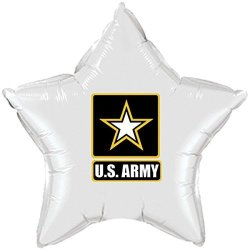 Partypro Army Strong White Star Balloon By