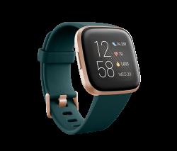 Fitbit Versa 2 Smartwatch in Emerald & Copper Rose