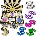 Igifts Inc. Dollar Bill Fidget Spinner Metallic Assorted Colors Bulk Pack Of 24 -