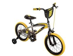 "16"" Huffy Kinetic Kid Bike Yellow W Removable Training Wheels"