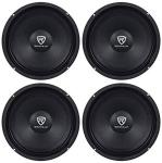 "Rockville 4 RM84PRO 8"" 4 Ohm 1200 Watt Spl Midrange mid-bass Car Speakers"