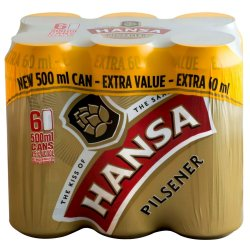 HANSA PILSNER - 500ML Can 6 Pack