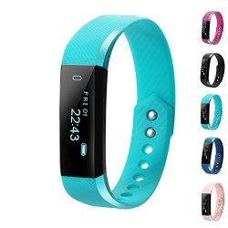LCStream Fitness Tracker Smart Watch Health Bracelet Activity Tracker With Step Track Calories Track Sleep Monitor Pedometer For Ios And Android Light Blue